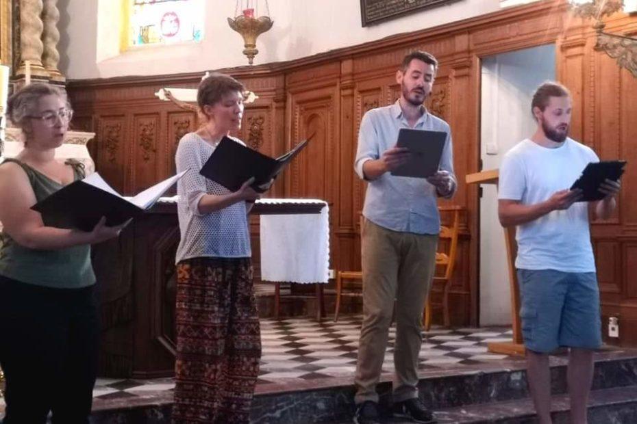 Suite des Plaines d'été avec Le Chœur de Chambre Septentrion pour un premier concert à Trélon avec le programme Vice Versa.